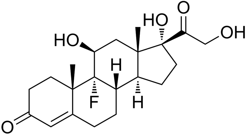 Файл:Fludrocortisone structure.png