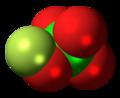 Fluorine perchlorate molecule spacefill.png