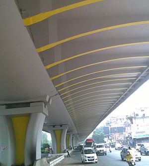 Outer Ring Road, Delhi - Image: Flyover at Vikaspuri on Outer Ring Road, Delhi