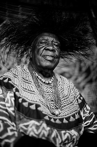 Fon (title) - Fo Angwafo III of Mankon, photographed in 2012