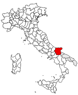 Location of Province of Foggia