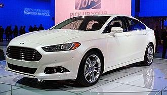 Ford CD4 platform - Image: Ford Fusion at NAIAS 2012 004
