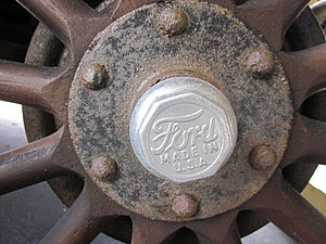 Made in USA - 1926 Ford Model T hubcap made in USA