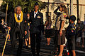 Former Sen. Daniel Akaka of Hawaii, left, is welcomed by local scout troops to the Dec. 7 remembrance ceremony at Hickam Field at Joint Base Pearl Harbor-Hickam, Hawaii, Dec. 7, 2013 131207-D-PJ759-022.jpg