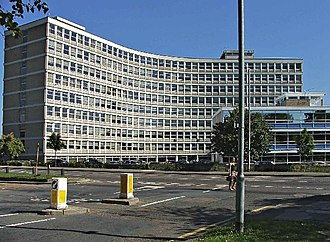 Black Horse (company) - Former headquarters of the United Dominions Trust, Cockfosters.