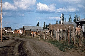 Fort Yukon, Alaska - Image: Fort Yukon village lies within the boundaries of the Yukon flats