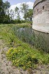 fortmuur van het torenfort uitermeer met gracht, onderdeel van de nieuwe hollandse waterlinie - weesp - 20429709 - rce