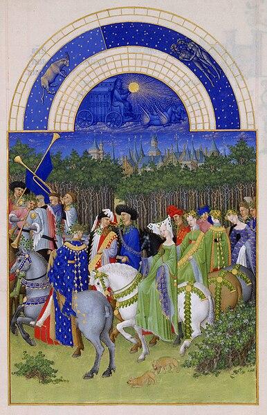 קובץ:Frères Limbourg - Très Riches Heures du duc de Berry - mois de mai - Google Art Project.jpg