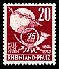 Fr. Zone Rheinland-Pfalz 1949 51 Weltpostverein.jpg
