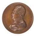 Framsida av bronsmedalj med Charles Niellon, general Belge - Skoklosters slott - 99233.tif