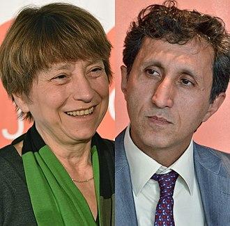 2012 Quebec general election - Image: Françoise David Amir Khadir 2