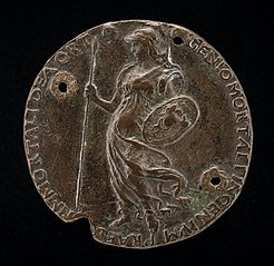 Minerva Holding a Spear and Shield [reverse]