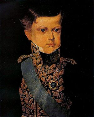 Early life of Pedro II of Brazil - Pedro II at age 6 in a portrait sent to his grandfather, Francis II, 1832.
