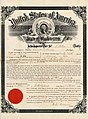 Frank Dollart's citizenship papers, Ellensburg, Washington, January 29, 1896 (MOHAI 5709).jpg