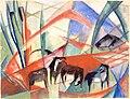 Franz Marc Landschaft mit schwarzen Pferden 1913.jpg