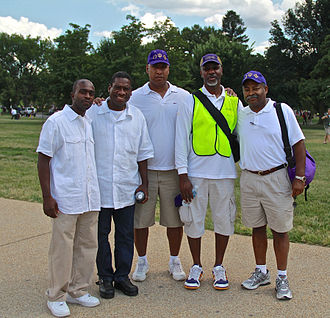 Omega Psi Phi - Omega Psi Phi chapter members at the 50th Anniversary of the March on Washington for Jobs and Freedom