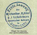 Freie Innung der Mechaniker, Optiker und Installateure elektrischer Anlagen in Hannover-Linden, Stempel 1907-04-10.jpg