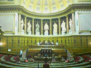 Politics of France - The Senate's amphitheater.