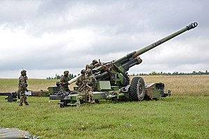 TRF1 - Image: French TRF1 155 mm, live fire exercise for Combined Endeavor 2013