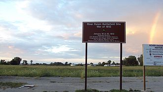 River Raisin National Battlefield Park - Much of the landscape within the site has not been restored to battlefield-era conditions.