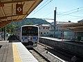 Fujikyu 6000 series at Yamuramachi Station.jpg
