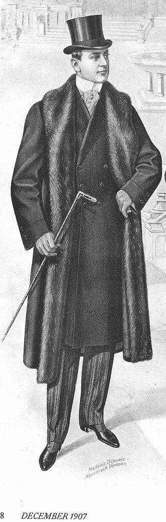 Overcoat - Image: Furlinedgreatcoat dec 1907