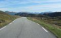 Fylkesvei 618 seen towards east between Selje and Sandvika Sogn og Fjordane Norway.JPG