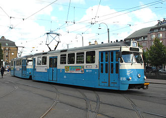 Z-class Melbourne tram - Gothenburg, M29 (front) and M28 (rear) trams, the inspiration for the Z-class tram