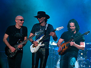 Joe Satriani - Satriani with Steve Vai and John Petrucci as part of G3 in Melbourne, Australia (December 2006)