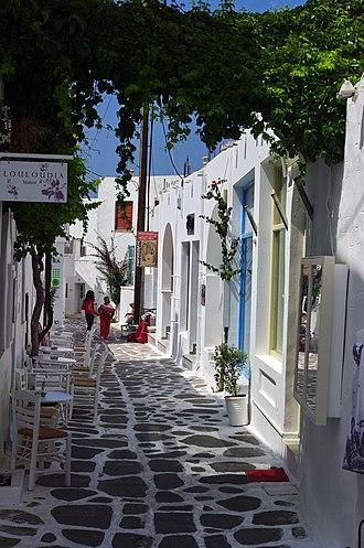 Paros - Street of Naousa