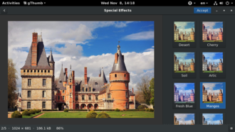 GThumb - Image: G Thumb v 3.4 Special effects