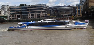 Thames Clippers - Image: Galaxy Clipper MBNA Thames Clippers cropped