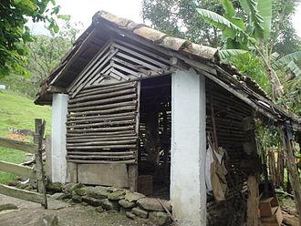 Chicken coop - A chicken coop in a smallholding.