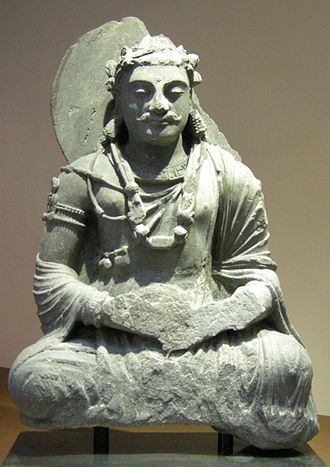 Samadhi - Bodhisattva seated in meditation. Afghanistan, 2nd century CE