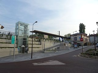 railway station in Viroflay, France