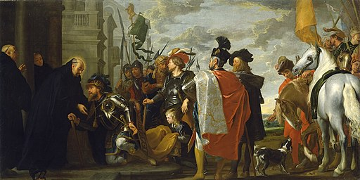 Gaspar de Crayer - Saint Benedict receiving Totila, King of the Ostrogoths