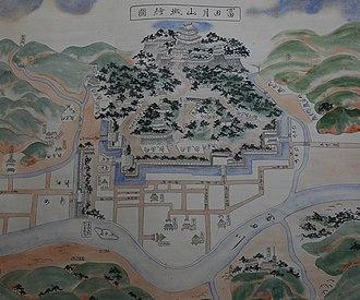 Gassantoda Castle - Castle map