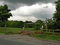 Gate and log barrier - geograph.org.uk - 823358.jpg