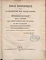 Gautier - Essai historique sur le problème des trois corps, ou Dissertation sur la théorie des mouvemens de la lune et des planètes, 1817 - 740156 F.jpeg