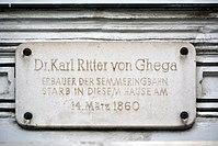 Gedenktafel für Carl Ritter von Ghega (Wien,Rotenturmstraße-Lugeck).jpg