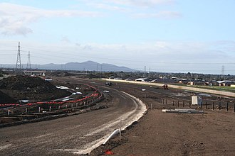 Geelong Ring Road - Geelong Ring Road under construction in 2007 at Bell Post Hill.
