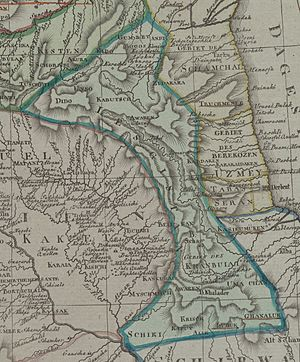 Lezgistan - Lezgistan from map of the Caucasus by Johann Christoph Matthias Reinecke, 1804