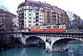 Genève tram crossing the Pont de Carouge circa 1980.jpg