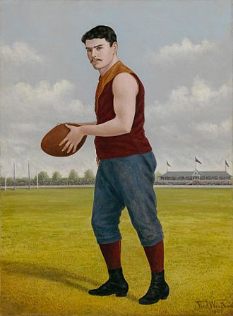 Fitzroy Football Club - 1901 portrait of Geoff Moriarty, who played in two VFL premierships for Fitzroy before going on to become the club's first official coach in 1911. His son Jack also played for Fitzroy.