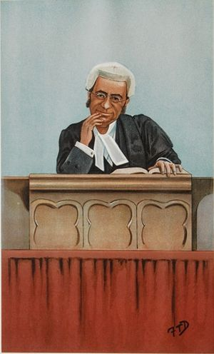 George Farwell (judge) - Farwell caricatured by FTD for Vanity Fair, 1900