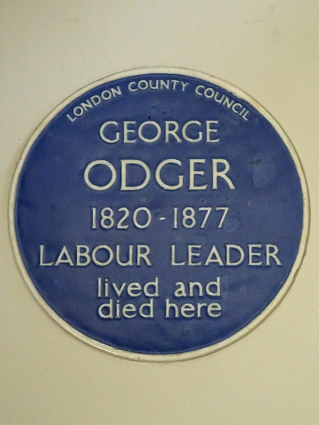 Photo of George Odger blue plaque