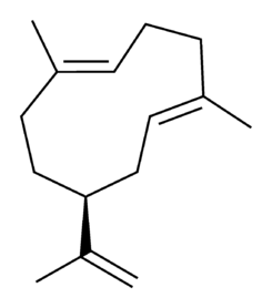 Germacrene A chemical structure.png