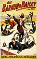 German poster for Barnum & Bailey with bicycles and rollerskates, 1900.jpg