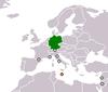 Lage von Deutschland und Malta