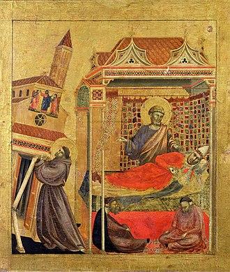 Saint Francis Receiving the Stigmata (Giotto) - Image: Giotto. Predella 1